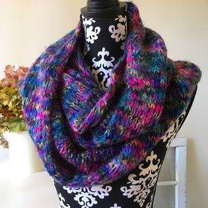 Extra Large crocheted scarf! Purple